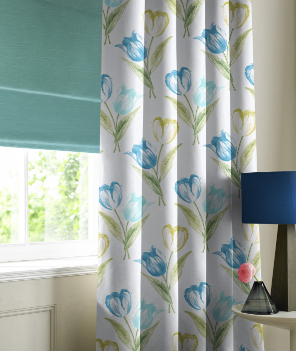 Banbury Teal Made to Measure Curtains