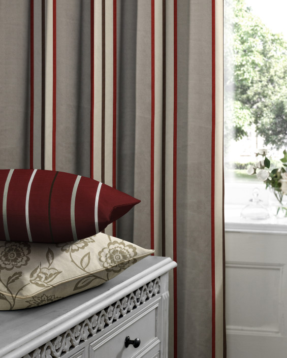 Hardy Scarlet Made to Measure Curtains