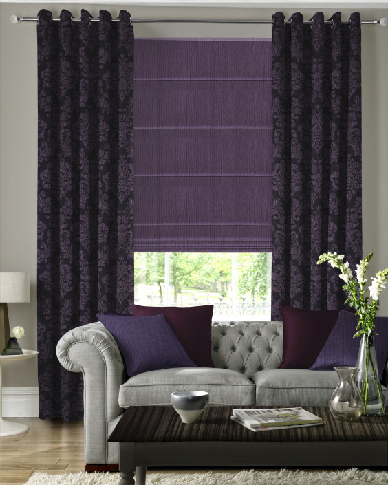 Venosa Aubergine Made to Measure Curtains