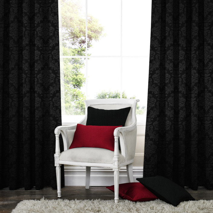 Venosa Black Made to Measure Curtains