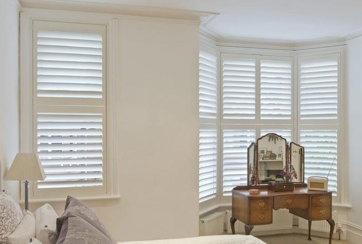 Bedroom Shutters Options For Bay Window