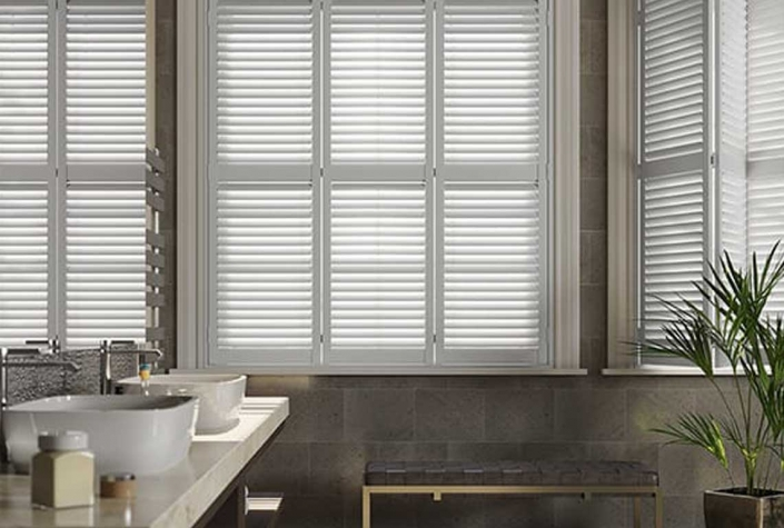 Bay Window Shutters Option For Kitchen