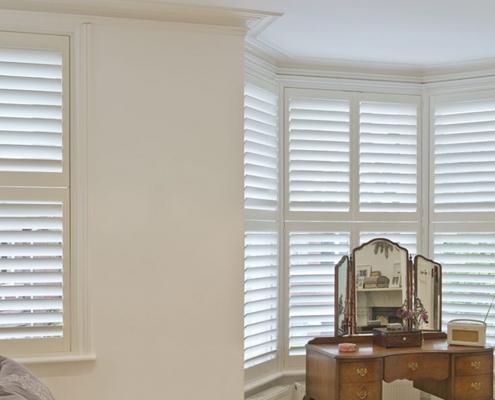 Living Room Shutters Option For Bay Window