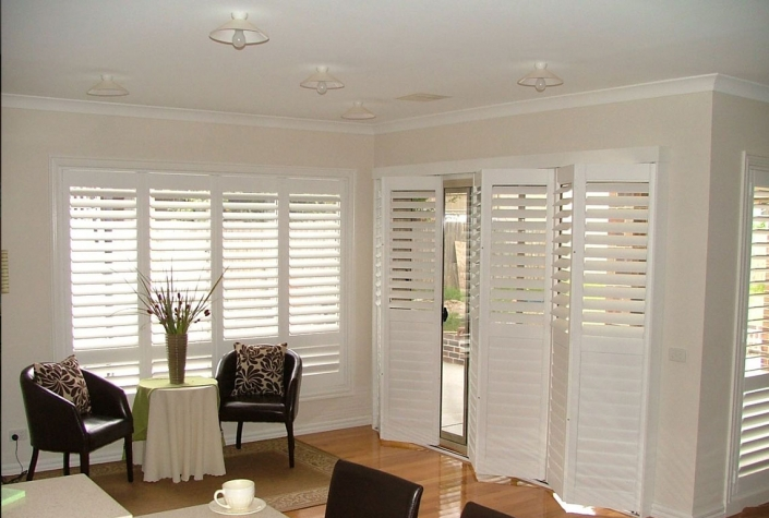 Living Room Tracked Shutters